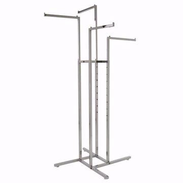 4-Way Straight Arm Floor Rack