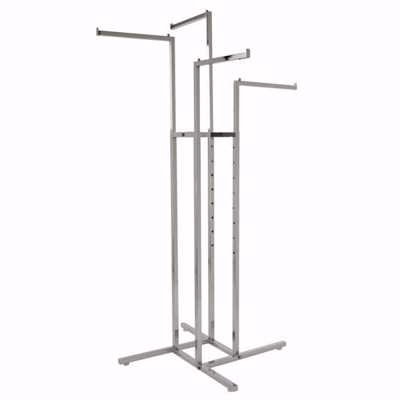 4-Way Straight Arm Floor Rack