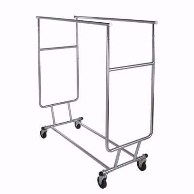 Double Bar Garment Rolling Rack