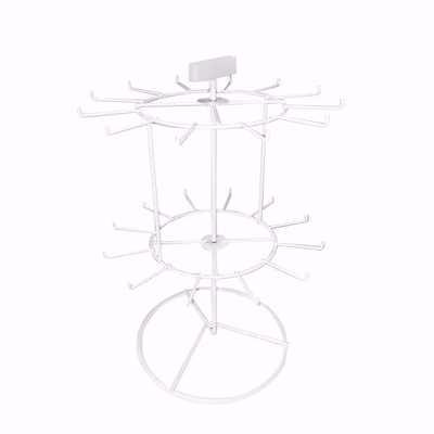 2-Tier 24 Prong Spinner Rack