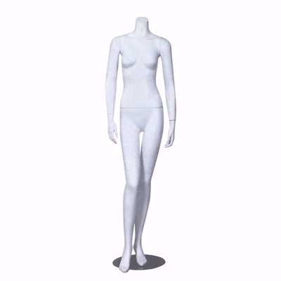 Headless Female Mannequin Matte White