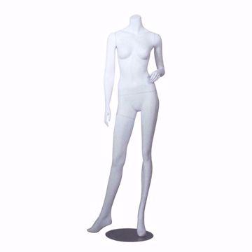 Headless Female Mannequin Matte White Pose 2