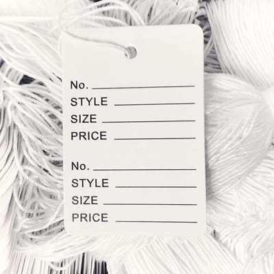 Perforated Tags with String