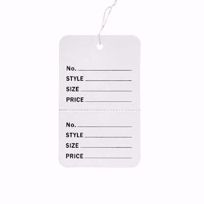 Large Perforated Tags with String