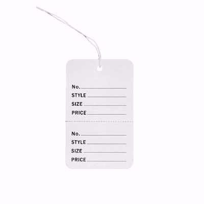 Small Perforated Tags with String