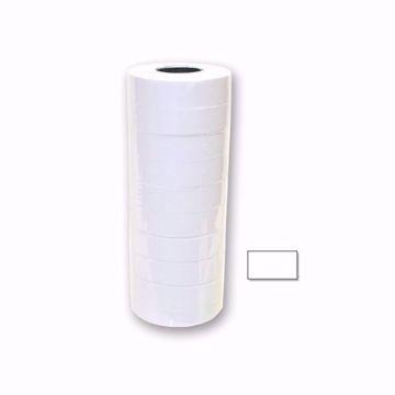 White Blank Single Line Labels