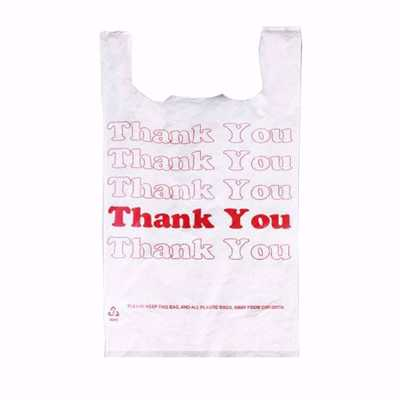 Plastic Thank You Shopping Bags