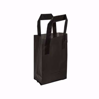 Black Frosted Plastic Shopping Bags (mini)