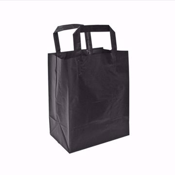 Black Frosted Plastic Shopping Bags (small)