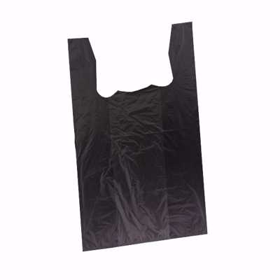 Black Plastic T-Shirt Bags