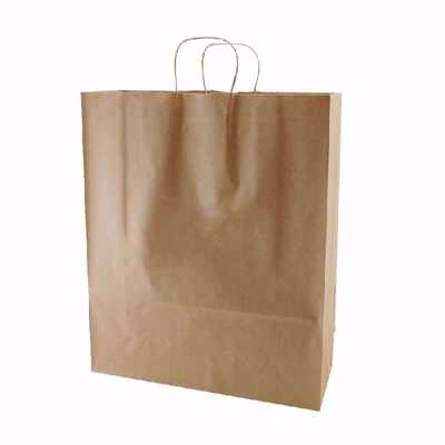 Plain Kraft Paper Shopping Bags (large)