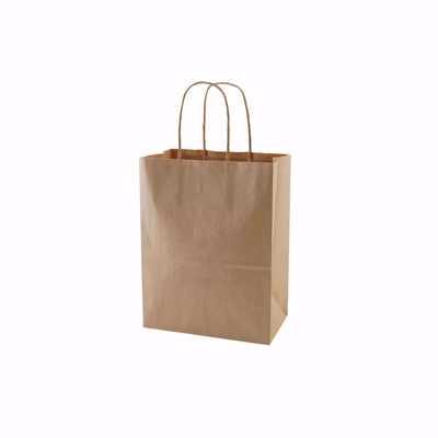 Plain Kraft Paper Shopping Bags (Small)