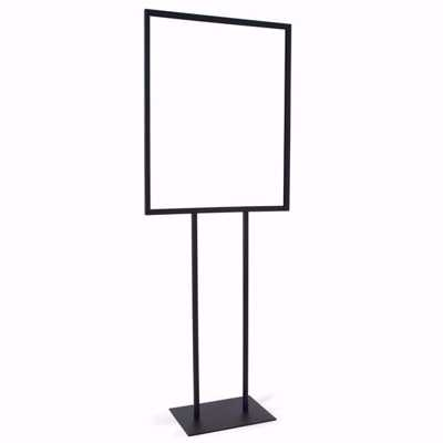 Bulletin Sign Holder with Base (22 x 28) Black