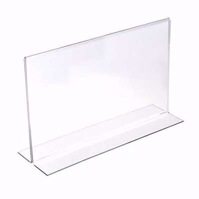 Acrylic Two Sided Bottom Load Sign Holder 11x7