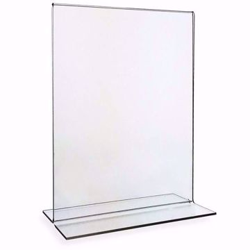 Acrylic Sign Holder Bottom Load 8.5 x 11