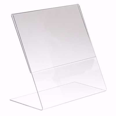 Slant Back Acrylic Sign Holder 8.5 x 11