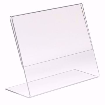 Acrylic Slant Back Sign Holder 11 x 8.5
