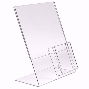 Acrylic Sign Holder with Brochure Pocket