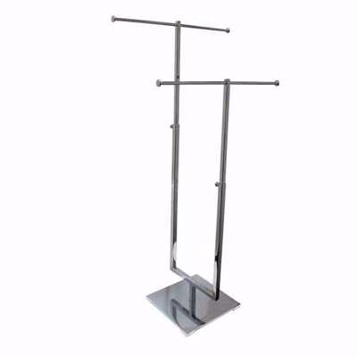 2-Tier Metal Countertop Jewelry Display Stand