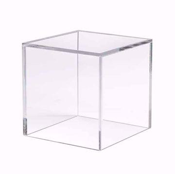 "5 Sided Acrylic Cube - 8"""