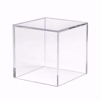 5 Sided Acrylic Cube - 8""