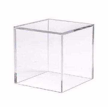"5 Sided Acrylic Cube - 4"""