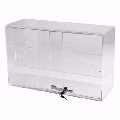 Acrylic Two Shelf Counter Display Case