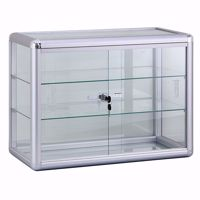 Aluminum Display Case with Lock 24 x 12