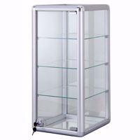 Tall Aluminum Display Case with Lock