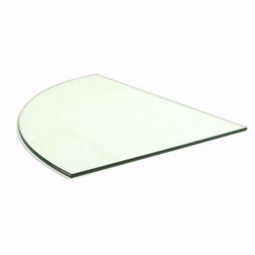 12 inch Quarter Round Glass Shelf (10 pack)