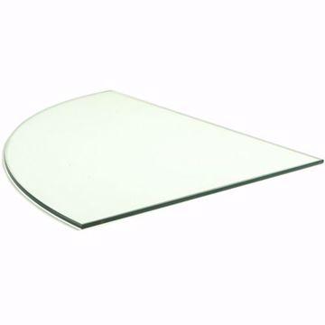 14 inch Quarter Round Glass Shelf (10 pack)