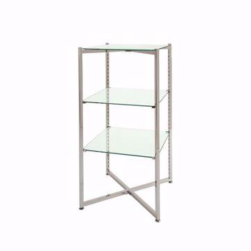 """Folding Glass Merchandiser Tower 37""""H"""