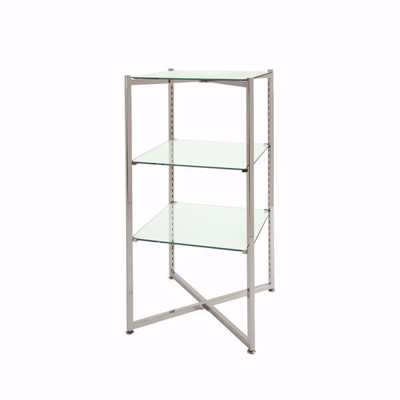 "Folding Glass Merchandiser Tower 37""H"