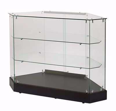 Glass Rear Access Filler Frameless Display Case