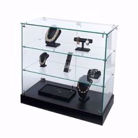 Glass Showcase Frameless Display Case