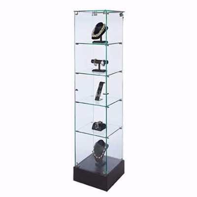 Glass Tower Frameless Display Case