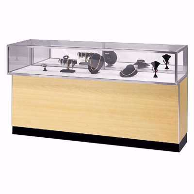 6 ft Metal Framed Jewelry Showcase Maple