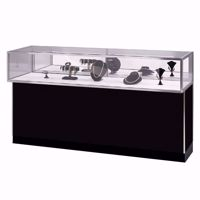 6 ft Metal Framed Jewelry Showcase Black