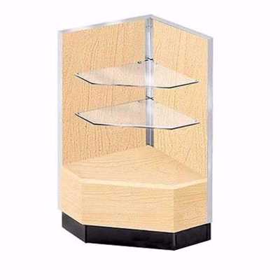 Metal Framed Corner Filler Display Case Maple