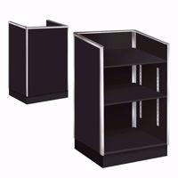 Metal Framed Well Top Register Stand Black