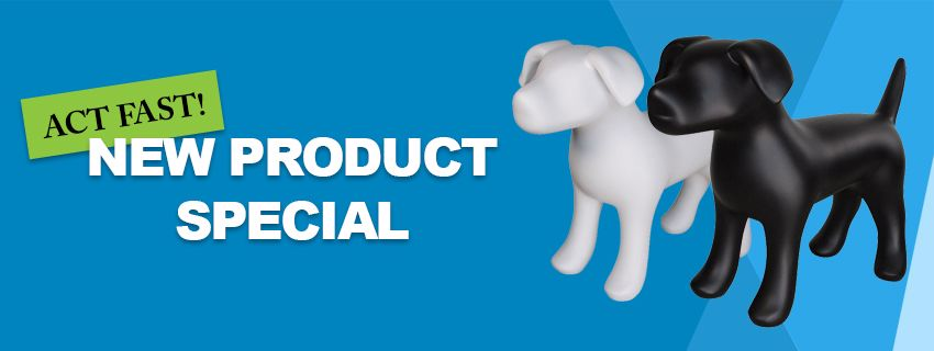 Display Warehouse - New Product Special Dog Mannequins