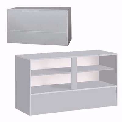 6 ft Service Counter Gray