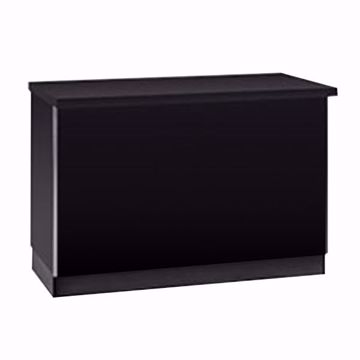 4 ft Metal Framed Service Counter Black