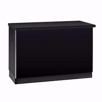 4 ft Metal Framed Service Counter Black