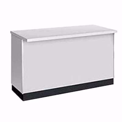 4 ft Metal Framed Service Counter Gray