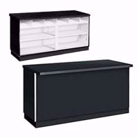 70 inch Metal Framed Service Counter Black