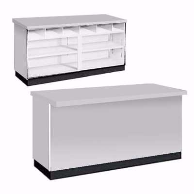 70 inch Metal Framed Service Counter Gray