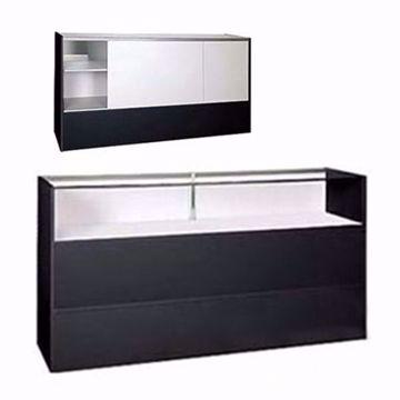 70 inch Jewelry Showcase RTA Black