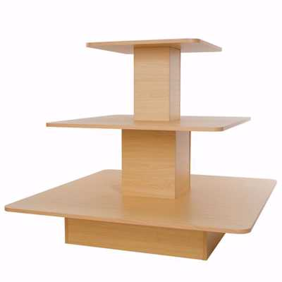 3-Tier Melamine Square Merchandiser