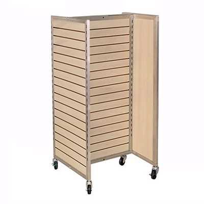 Framed Slatwall H-Rack Merchandiser